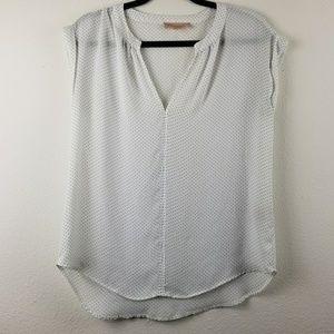 Philosophy polka dot v-neck blouse
